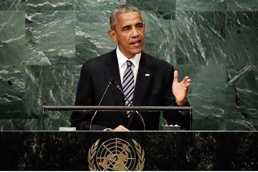 El presidente Barack Obama durante su discurso ante la asamblea general de las Naciones Unidas, el 20 de septiembre, donde abordó el tema de los refugiados y los retos que enfrentan los países d ...