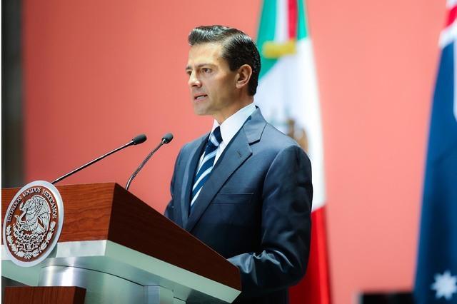 El presidente de la República Mexicana, Enrique Peña Nieto, este año invitól a la sociedad civil a la ceremonia de El Grito en  Palacio Nacional,  (NOTIMEX/FOTO ARCHIVO).