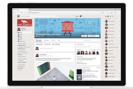 """Esta imagen cortesía de Facebook muestra el nuevo servicio llamado """"Workplace"""", la nueva herramienta de comunicación. La nueva plataforma de Facebook será gratuita para organizaciones no lucrat ..."""