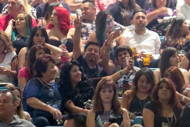 Desde minutos antes del inicio del concierto, el público hispano disfrutó de un divertido ambiente latino, en el cual incluso se realizó la tradicional 'ola' donde participaron todos los as ...