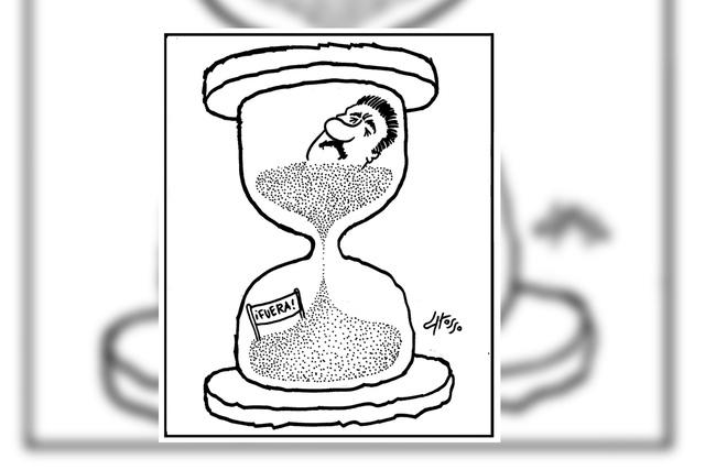 Se le acaba el tiempo.   Ilustración por Grosso, especial para El Tiempo