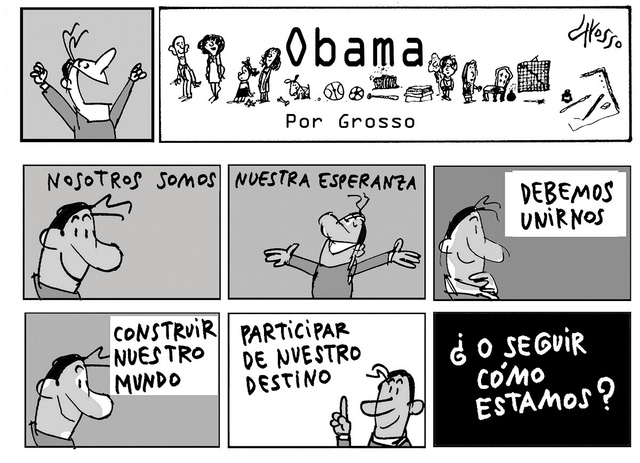 Obama. | Ilustración por Grosso/Especial para El Tiempo