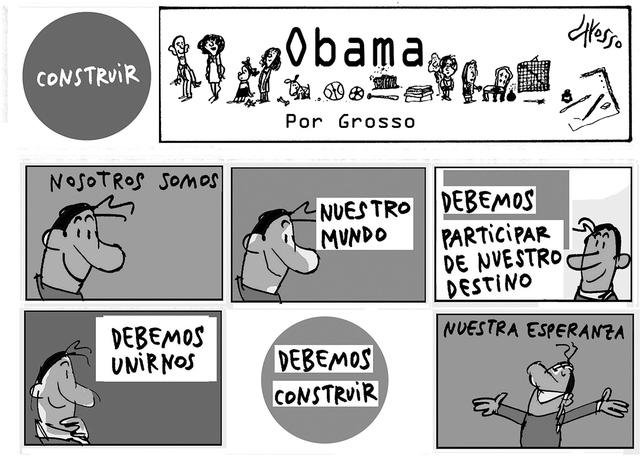Obama.   Ilustración por Grosso/Especial para El Tiempo
