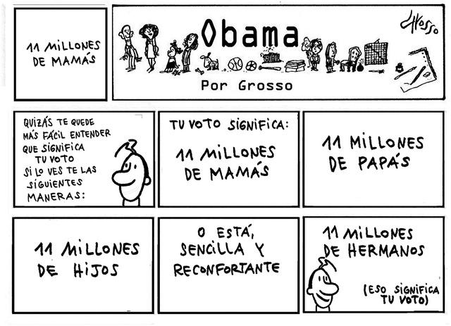 Grosso (Obama).   Ilustración especial para El Tiempo