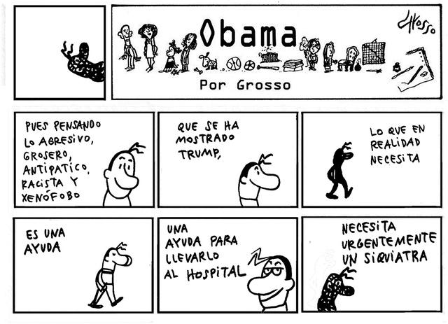 Obama. | Ilustración por Grosso, especial para El Tiempo