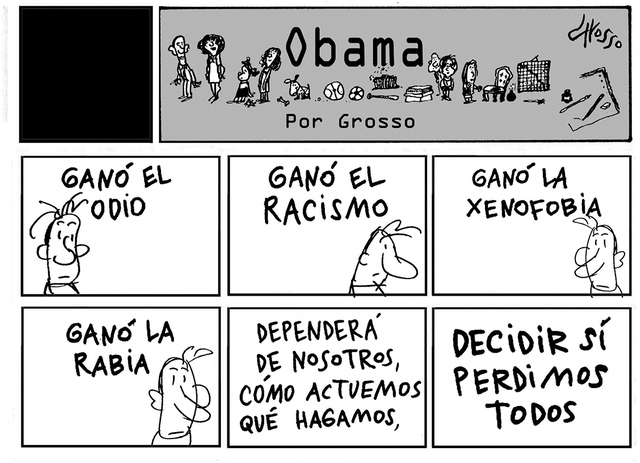 Obama. | lustración por Grosso, especial para El Tiempo