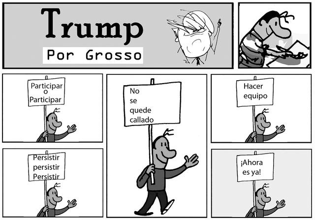 Trump. | Ilustración por Grosso/ Especial para El Tiempo