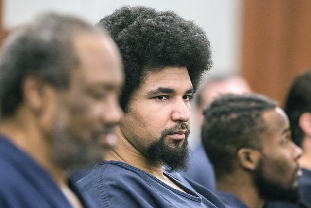 Jerry Howard (al centro) fue sentenciado a prisión de por vida, por la violación y asesinato de Kathy Shines, el 21 de Noviembre del 2016. (Jeff Scheid/Las Vegas Review-Journal Follow @jeffscheid)