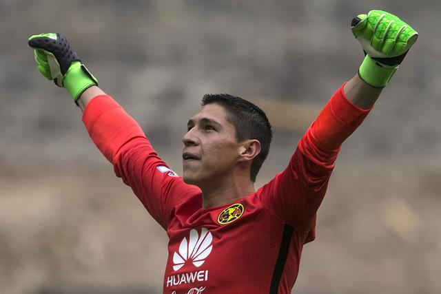 Hugo Gonzalez, el portero del club América. (AP Photo/Christian Palma)