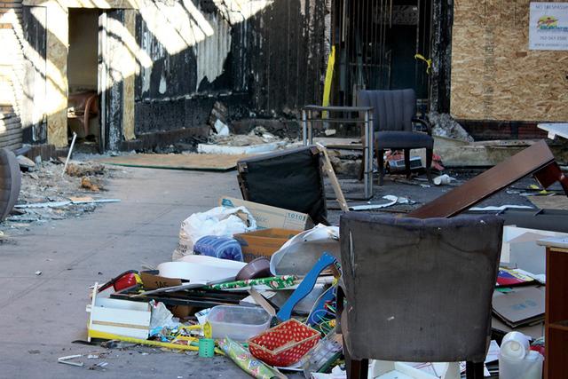 Las fotos muestra un incendio ocurrido hace un par de semanas en un restaurante de comida mexicana localizado en Rancho Drive y Washington Ave. Fotos El Tiempo