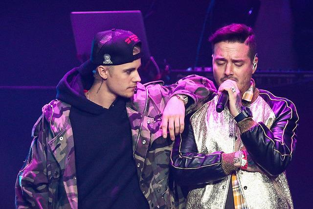 Justin Beiber y J Balvin Calibash 2016 en Staples Center en 24 de enero de 2016 en Los Angeles, California. Foto cortesía John Salangsang for La Música