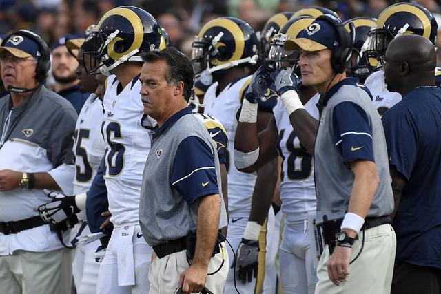 Los Angeles Rams head coach Jeff Fisher. | AP Photo/Mark J. Terrill