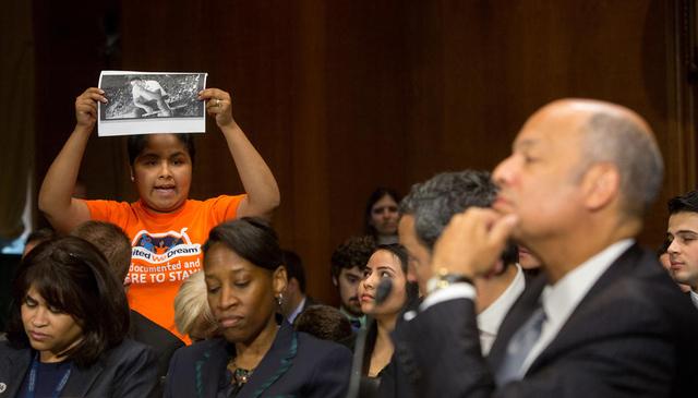 Jeh Johnson, durante una audiencia en el Comité Judicial del Senado de EEUU. | Foto Agencia