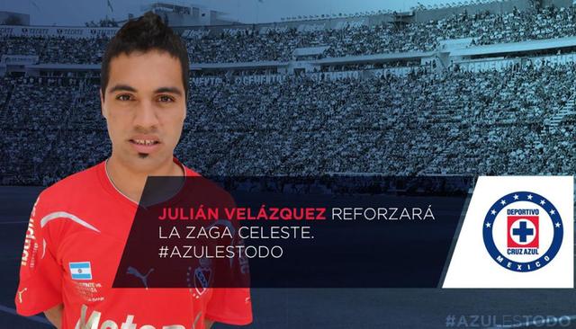Julián Velázquez   Twitter @Cruz_Azul_FC