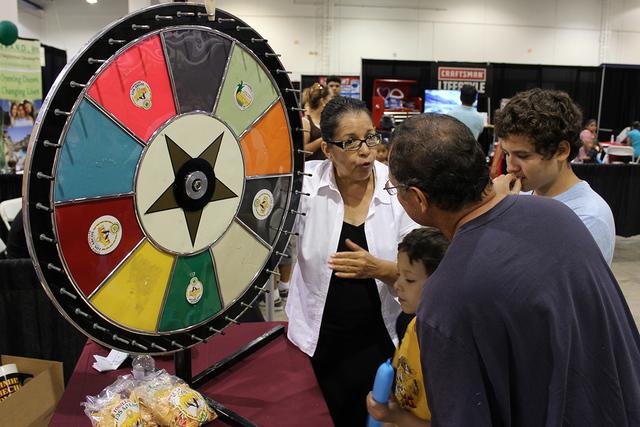 Los niños pudieron participar en las actividades de los patrocinadores en La Oportunidad Expo en el Cashman Center, el sábado 1 de octubre. Foto El Tiempo