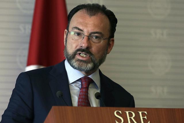 El secretario de Relaciones Exteriores de México, Luis Videgaray. (AP Photo / Marco Ugarte)