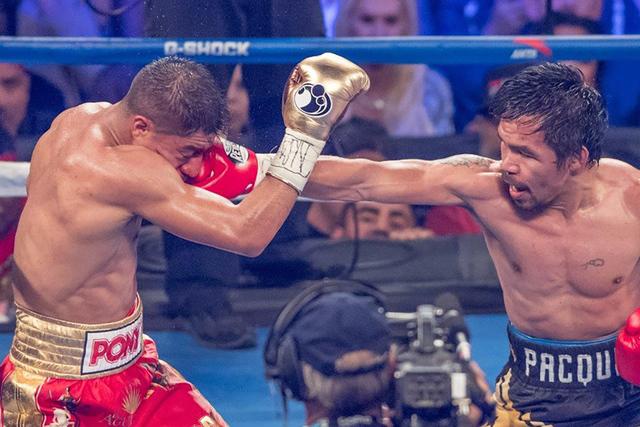 Manny Pacquiao vs. Jessie Vargas en el Thomas & Mack Center, el sábado 5 de noviembre de 2016 en Las Vegas. Pacquiao ganó por decisión unánime. (Tom Donoghue)