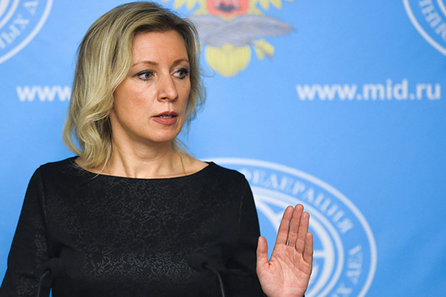 Maria Zajarova, portavoz del Ministerio ruso de Relaciones Exteriores. | Agencia