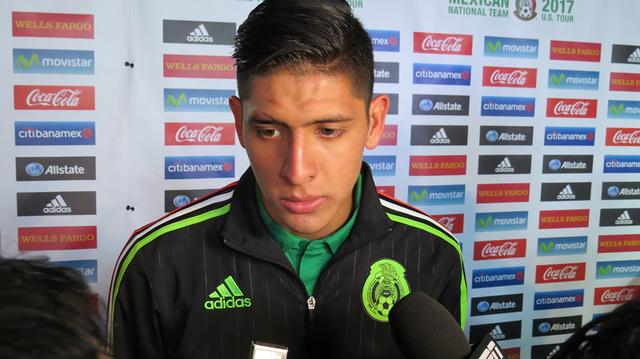 Edson Álvarez hizo su debut con la Selección de México, situación que lo motiva a seguir trabajando por más convocatorias, el miércoles 8 de febrero en estadio Sam Boyd. Foto El Tiempo