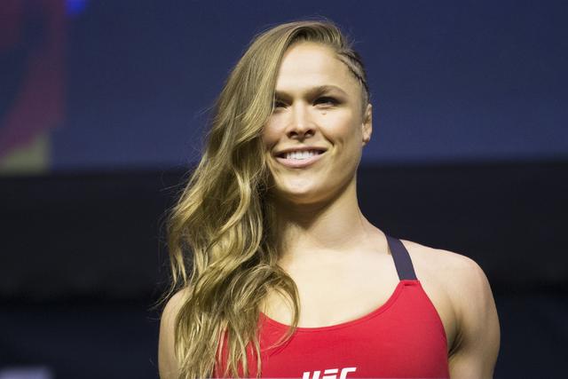 Ronda Rousey, el 29 de diciembre del 2016 en Las Vegas. (Foto Archivo/Erik Verduzco/Las Vegas Review-Journal Follow @Erik_Verduzco).
