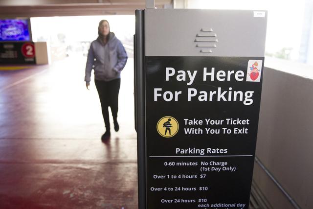 Esta es una máquina para pago de estacionamieto, en el hotel y casino New York-New York de Las Vegas, el 28 de diciembre del 2016. (Erik Verduzco/Las Vegas Review-Journal Follow @Erik_Verduzco).