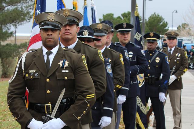 Diversos cuerpos policiacos asistieron a su celebración donde estuvo presente la alcaldesa de Las Vegas, Carolyn Goodman, el sábado 7 de enero de 2017 en Parque Memorial. Foto El Tiempo