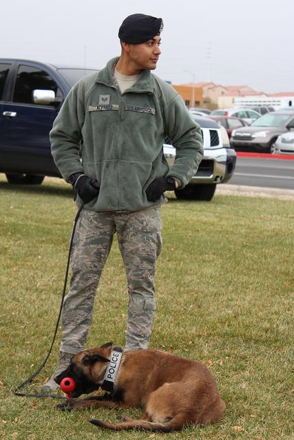 Policía montada y canina dieron gracias a la comunidad por su apoyo, el sábado 7 de enero de 2017 en Parque Memorial. Foto El Tiempo