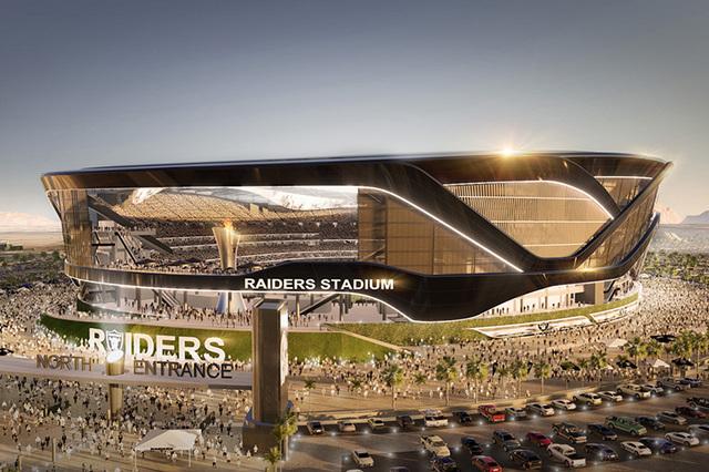 Esta imagen muestra cómo sería el estadio deportivo techado, la nueva casa de los Raiders en Las Vegas. La Sesión extraordinaria de la Legislatura aprobó el viernes 14 de octubre del 2016 una  ...