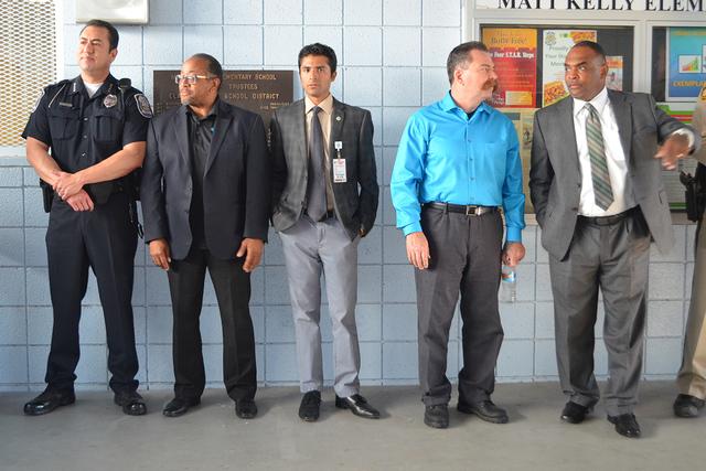 Policías, bomberos, maestros, directivos que asistieron al evento. Foto El Tiempo