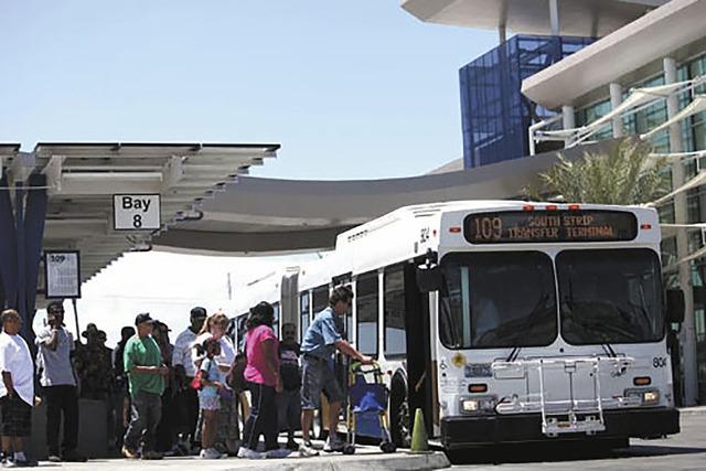 El Servicio de Transporte Público del condado, RTC, dará servicio regular y especial en las fiestas de fin de año. (Foto Archivo/Las Vegas Review-Journal).