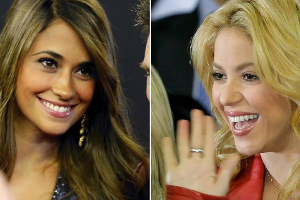Antonella Roccuzzo y Shakira. | Cortesía