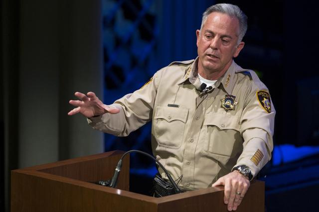 El sheriff del Condado de Clark, Joe Lombardo, dio un informe del trabajo que hace el Departamento de la Policía Metropolitana de Las Vegas, el 22 de febrero del 2017. Afirmó que será prioridad ...