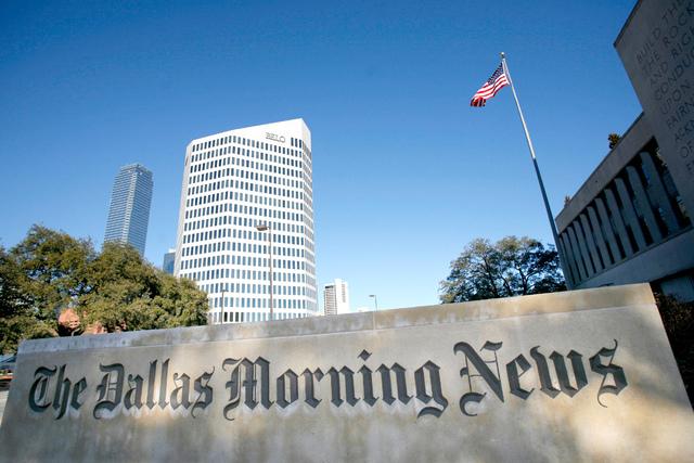 Instalaciones del diario The Dallas Morning News. | Archivo AP Photo/Matt Slocum