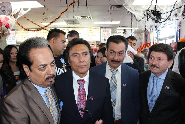 La agrupación de Los Tigres del Norte, realizaron varias actividades prosilitistas en apoyo a Hillary Clinton en Las Vegas, el miércoles 19 de octubre de 2016. Foto El Tiempo