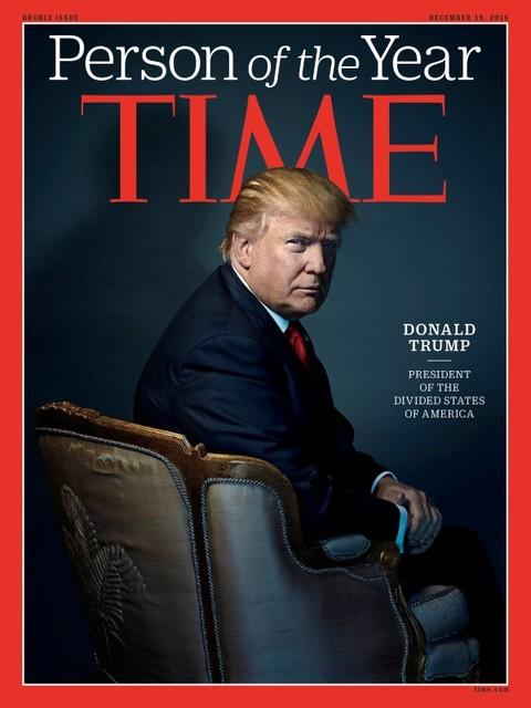 """El Presidente electo Donald Trump fue nombrado por la revista Time, el 7 de diciembre del 2016, como """"La persona del año"""". Esta es la portada completa y dice: Donald Trump, presidente de los Esta ..."""