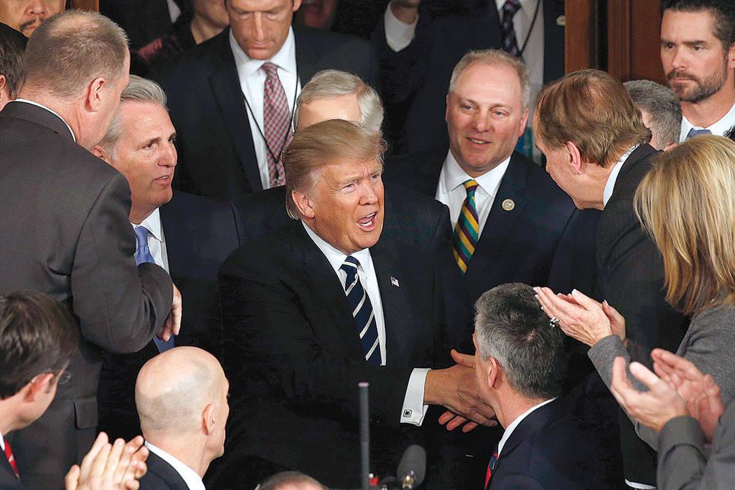El Presidente de los Estados Unidos, Donald Trump, se dirige al Congreso para dar su primer discurso en Washington D.C, el martes 28 de febrero de 2017. | REUTERS / Kevin Lamarque