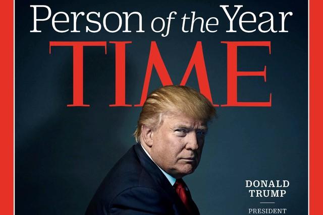 """El Presidente electo Donald Trump fue nombrado por la Revista Time como """"La persona del Año"""", el 7 de diciembre del 2016. Esta es una foto de la mitad de la portada de la revista. (Time Magazine/ ..."""