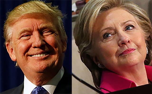Foto compuesta con los candidatos a la presidencia de los Estados Unidos: republicano Donald Trump, y la demócrata Hillary Clinton, captados el 21 de octubre del 2016. (Reuters).