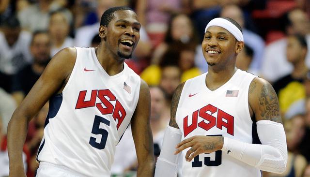 Estados Unidos anunció su selección de 12 jugadores, encabezada por Kevin Durant y Carmelo Anthony, que tratará de ganar la tercera medalla de oro olímpica consecutiva en el básquetbol mascul ...