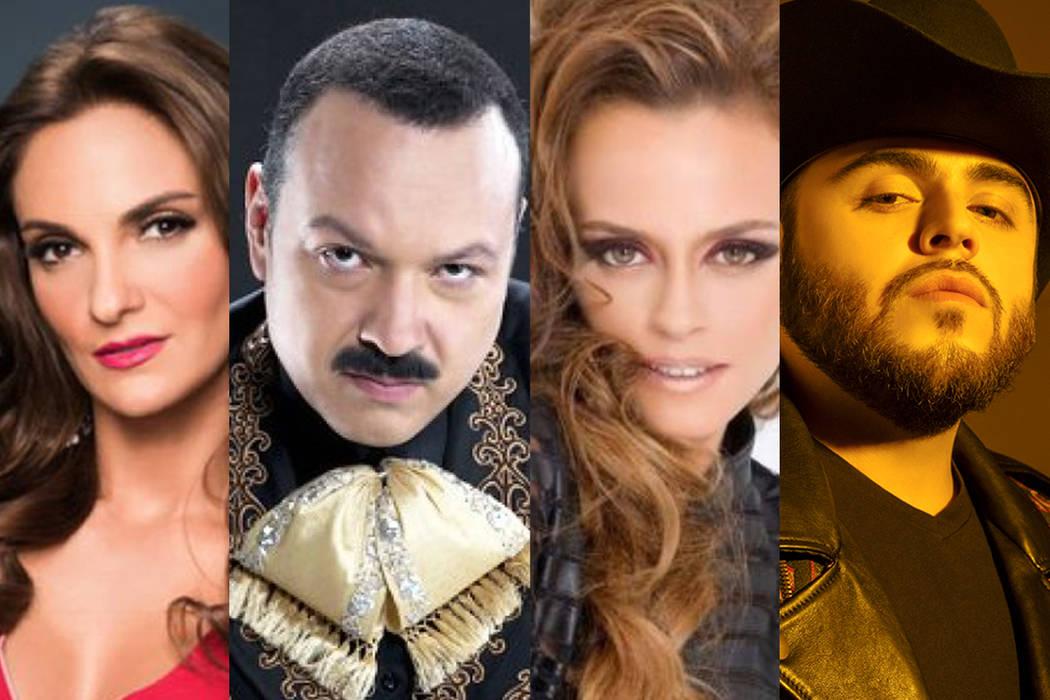 Mariana Seoane, Pepe Aguilar, Shaila Durcal y Gerardo Ortiz. | Cortesía