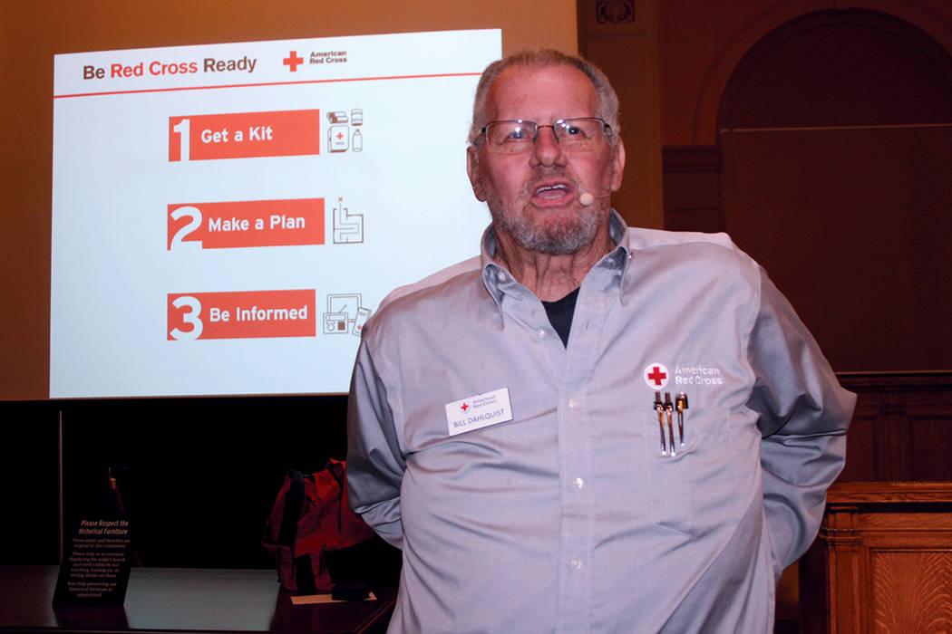 Bill Dahlquist, ex US Marine y ex oficial de la Policía Metropolitana, ahora trabaja para la Cruz Roja. Domingo 17 de septiembre en el Museo de La Mafia. | Foto Valdemar González / El Tiempo.