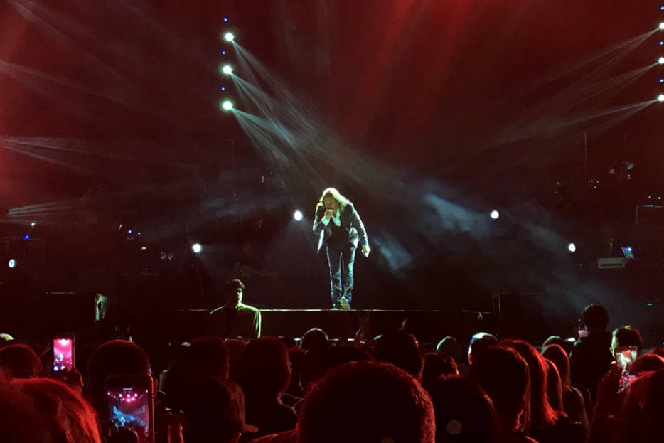 En concierto, Solís es aún más icónico. El viernes 15 de septiembre, en plena celebración de la Independencia de México, se presentó en el Mandalay Bay de Las Vegas. | Foto El Tiempo.