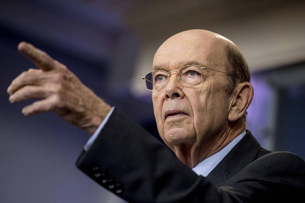 El secretario de Comercio de EE.UU., Wilbur Ross. | Foto AP/Andrew Harnik.