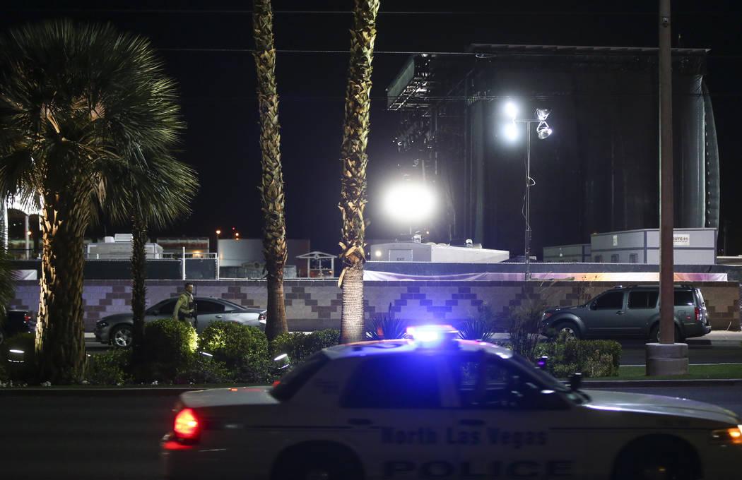 El sitio en donde se llevo a cabo el festival de Route 91 mientras que la policía de Las Vegas investiga después de una situación activa de francotirador que dejó 50 muertos y más de 200 heri ...
