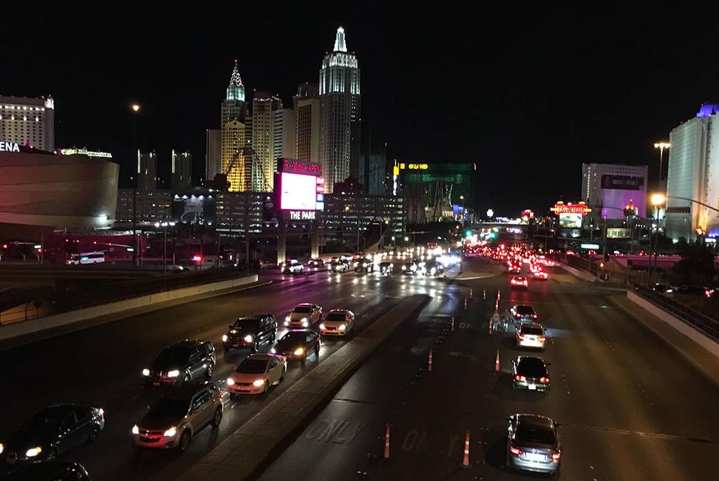 Vista del Strip cerca del Mandalay-Bay en Las Vegas el domingo 1 de octubre de 2017. (Chitose Suzuki/Las Vegas Review-Journal)