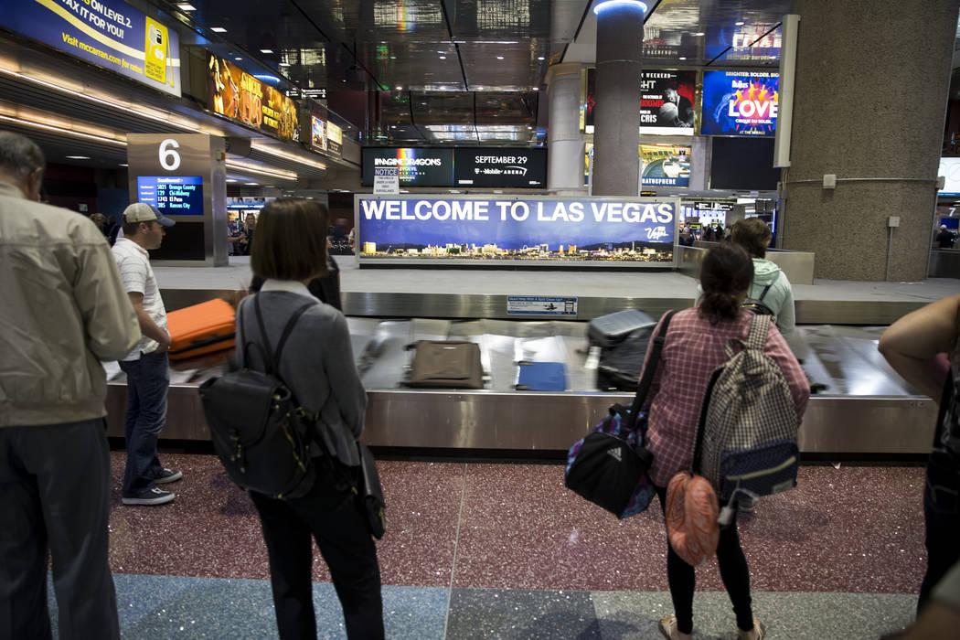 Terminal 1 en el Aeropuerto Internacional McCarran en Las Vegas, el lunes 2 de octubre de 2017. Erik Verduzco / Las Vegas Review-Journal