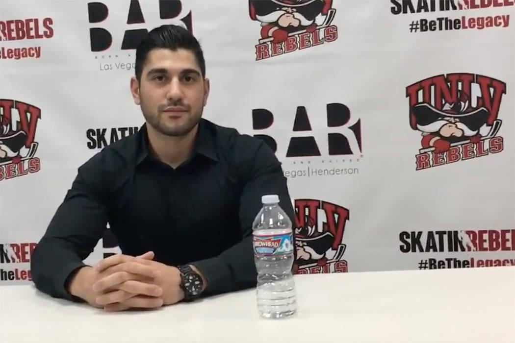 Nick Robone, de 28 años, entrenador de hockey de la UNLV, recibió un disparo en el pecho en el Harvest Festival de la Ruta 91. Su hermano, un paramédico, lo estabilizó en la escena. Su padre d ...