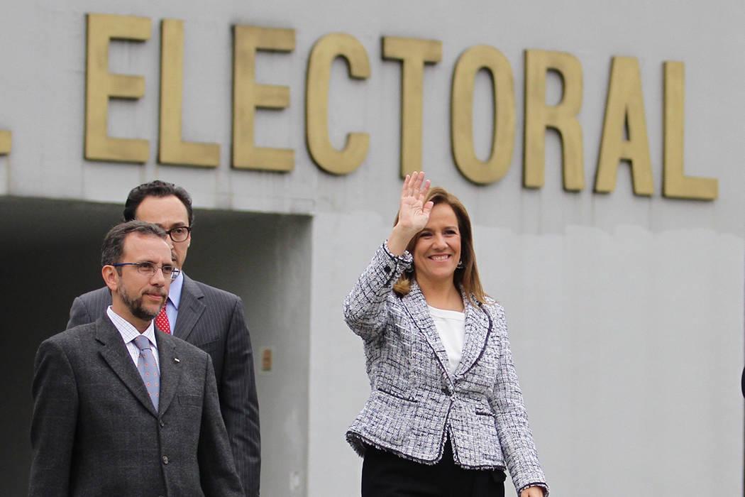 Margarita Ester Zavala Gómez del Campo. | Foto Notimex- Guillermo Granados.