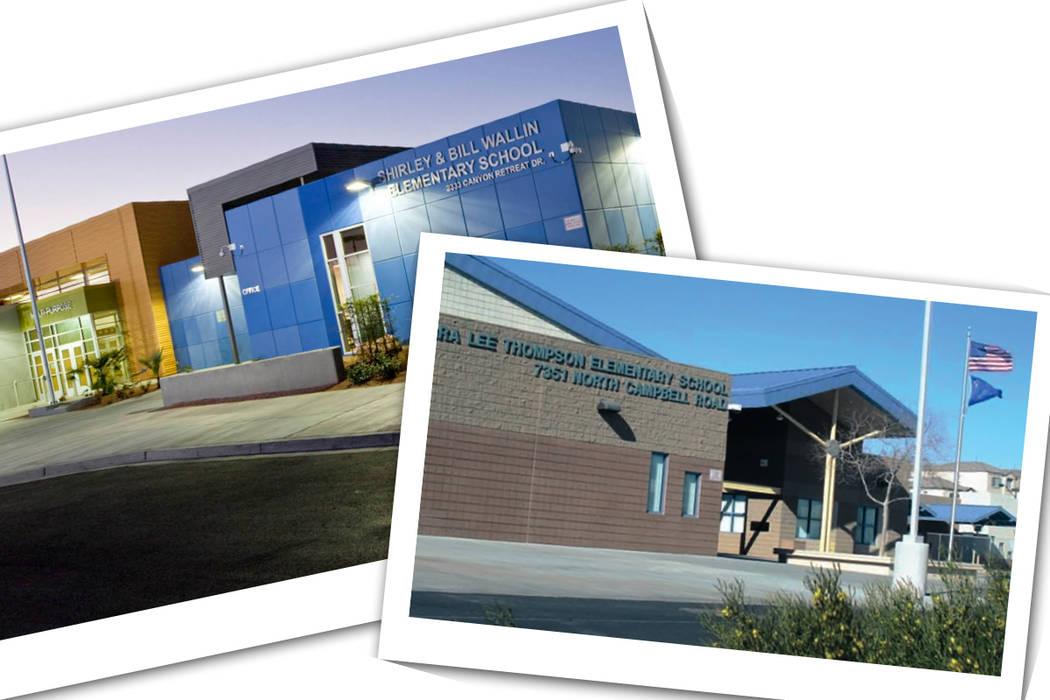 Las escuela primarias Shirley and Bill Wallin y Sandra L. Thompson fueron seleccionadas recientemente como receptoras de la distinción nacional Blue Ribbon.   Fotos cortesía.