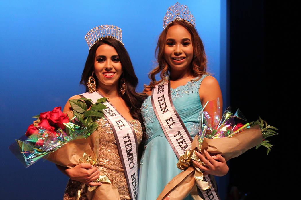 Diana Cervantes Miss El Tiempo y Catherine Mosquera, Miss Teen El Tiempo, fueron coronadas por Lauren York, Miss Nevada USA 2017, en el Lowden Theater, el sábado 7 de octubre, 2017, Las Vegas. |  ...